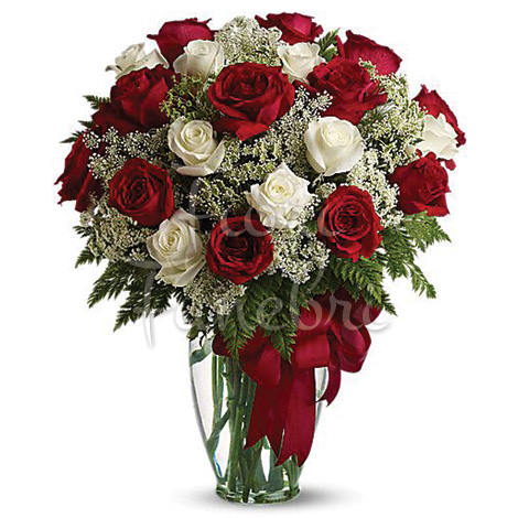 Bien-aimé rose rosse - Corona Funebre MJ16