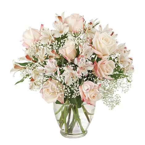 Connu Bouquet di Alstromeria e rose bianche - Corona Funebre TE58