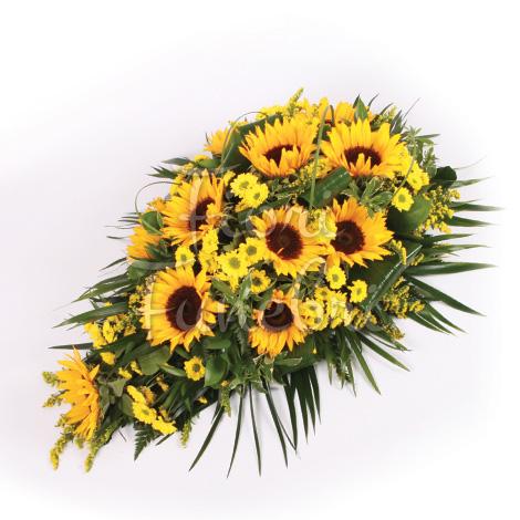 Très Composizione funebre di girasoli - Corona Funebre NT17